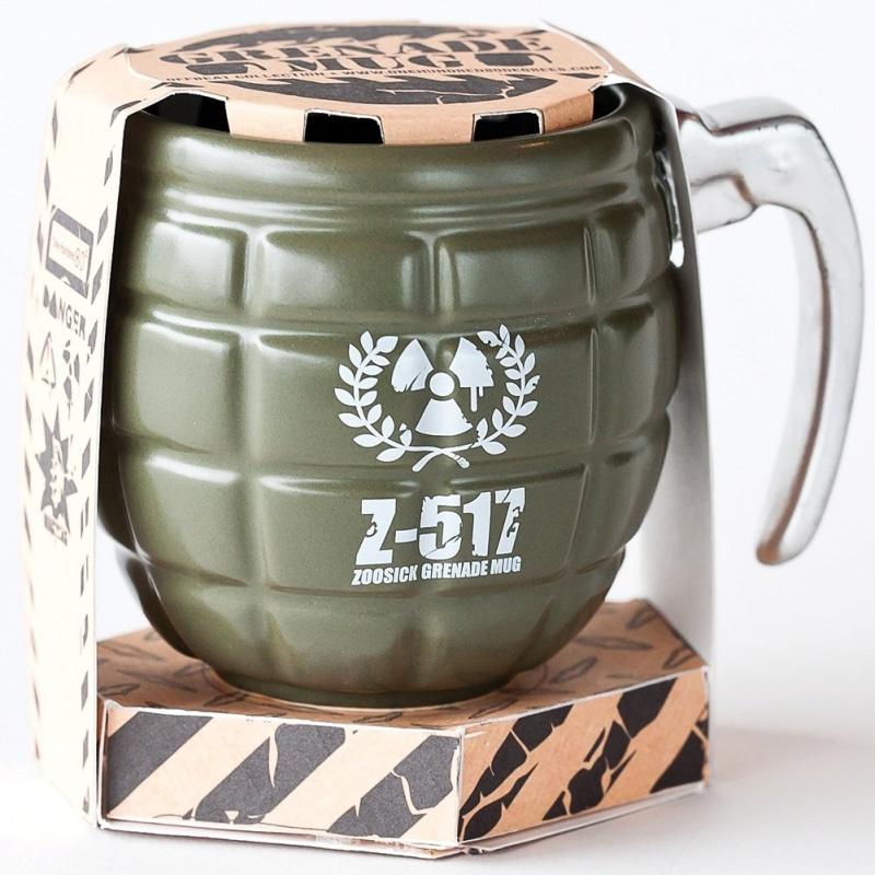 6. Ceramic Grenade Coffee Mug