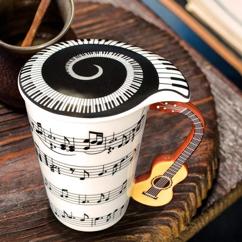 4. Mug With Guitar Handle