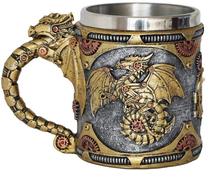 3. Steampunk Gearwork Mechanical Dragon Mug