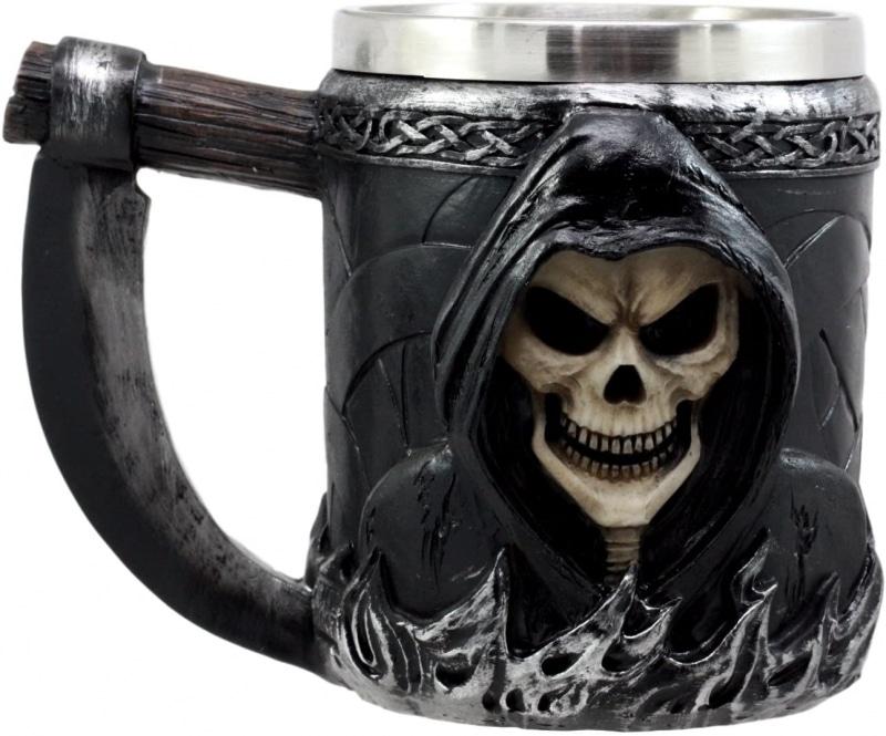 2. Ebros Gift Death Grim Reaper Coffee Mug