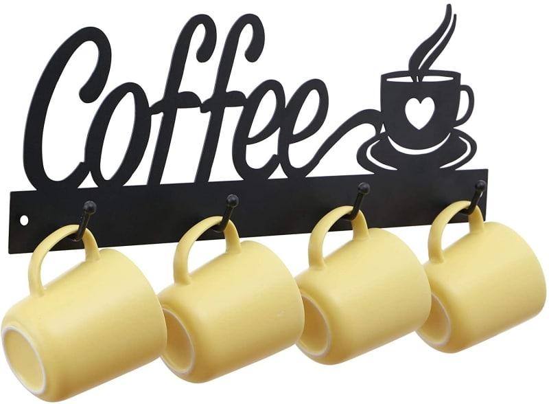 10. ANNYHOME Metal Coffee Mug Holder