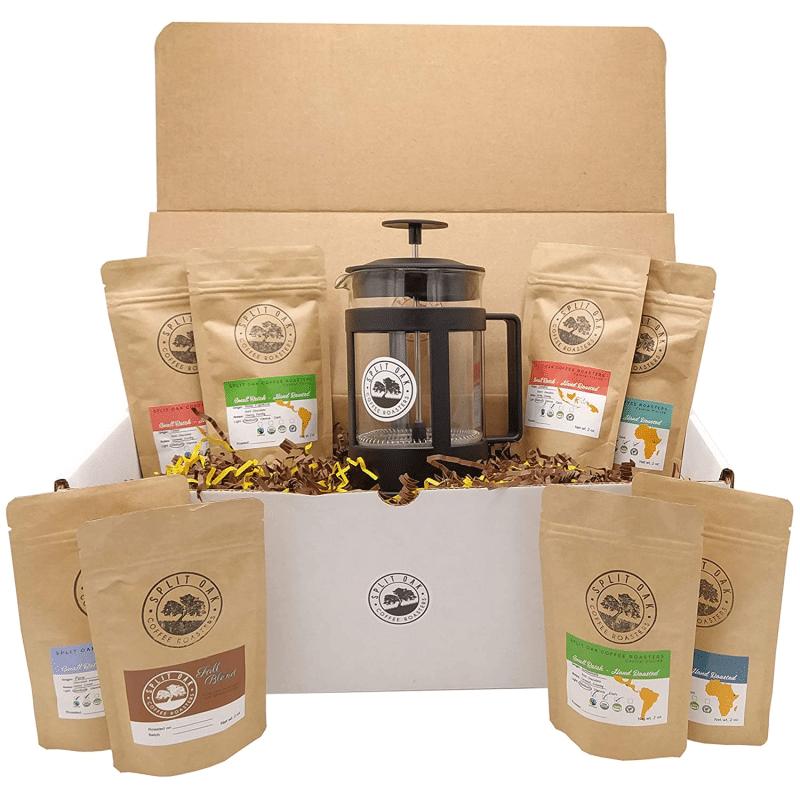 3. Split Oak Best Coffee Gift Box