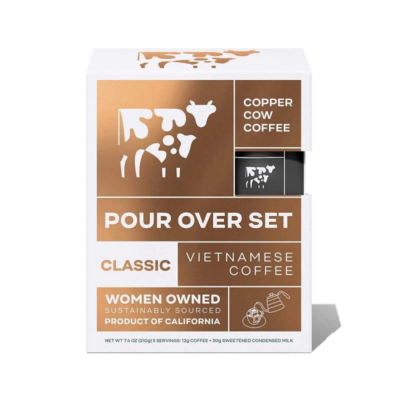 3. Copper Cow Coffee Vietnamese Pour Over Coffee