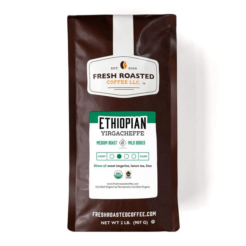 3. Fresh Roasted Coffee, Organic Ethiopian Yirgacheffe Medium Roast