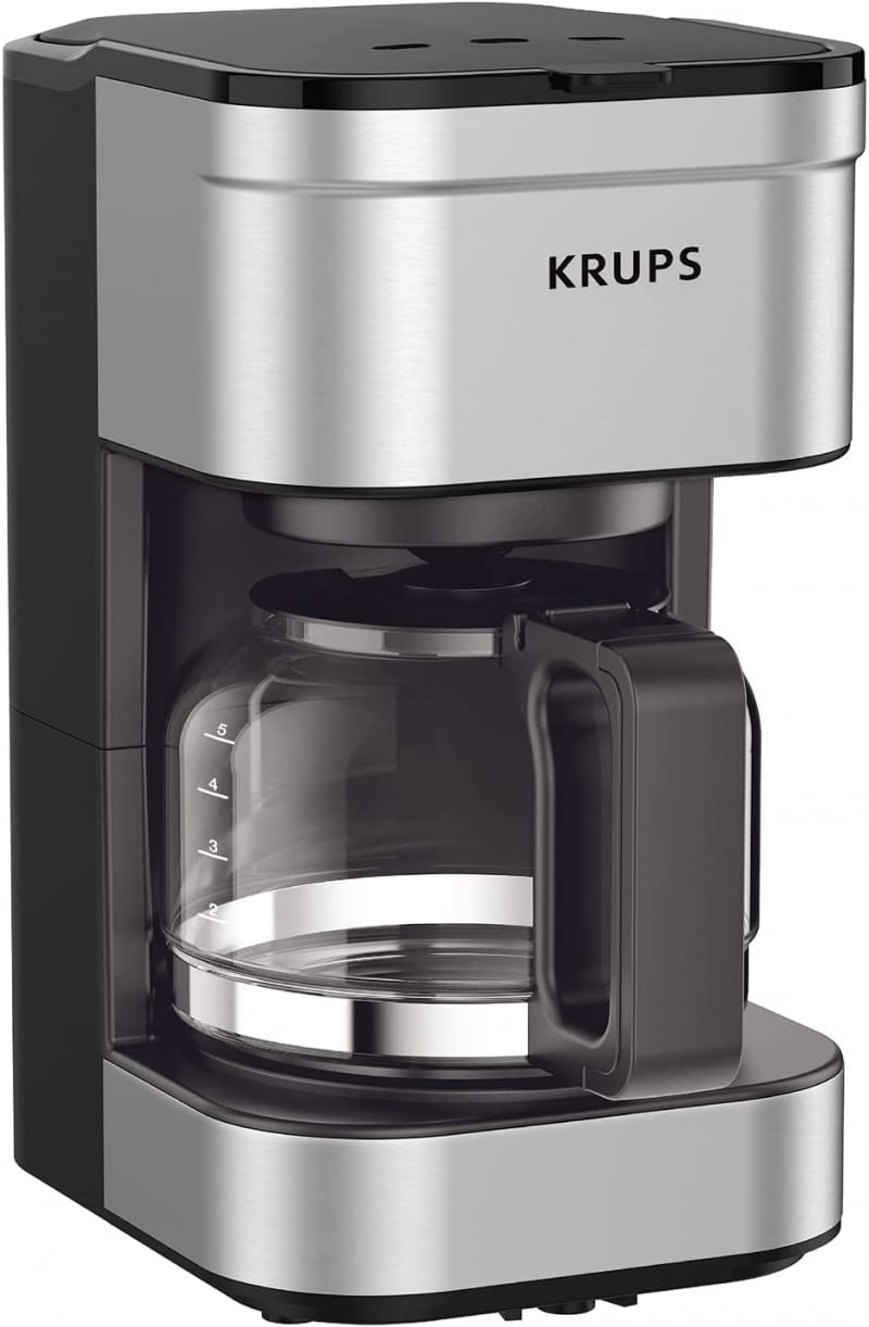 3. KRUPS Simply Brew Compact Filter Drip Coffee Maker