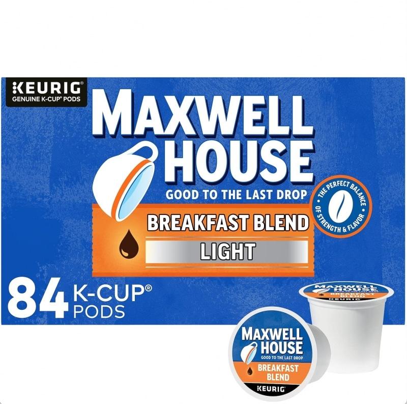 3. Maxwell House Breakfast Blend Light Roast K-Cup Coffee Pods