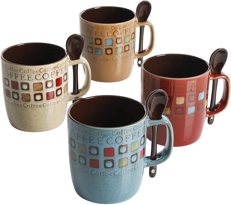3. Mr. Coffee Café Americano 8 Pieces Mugs and Spoons Set