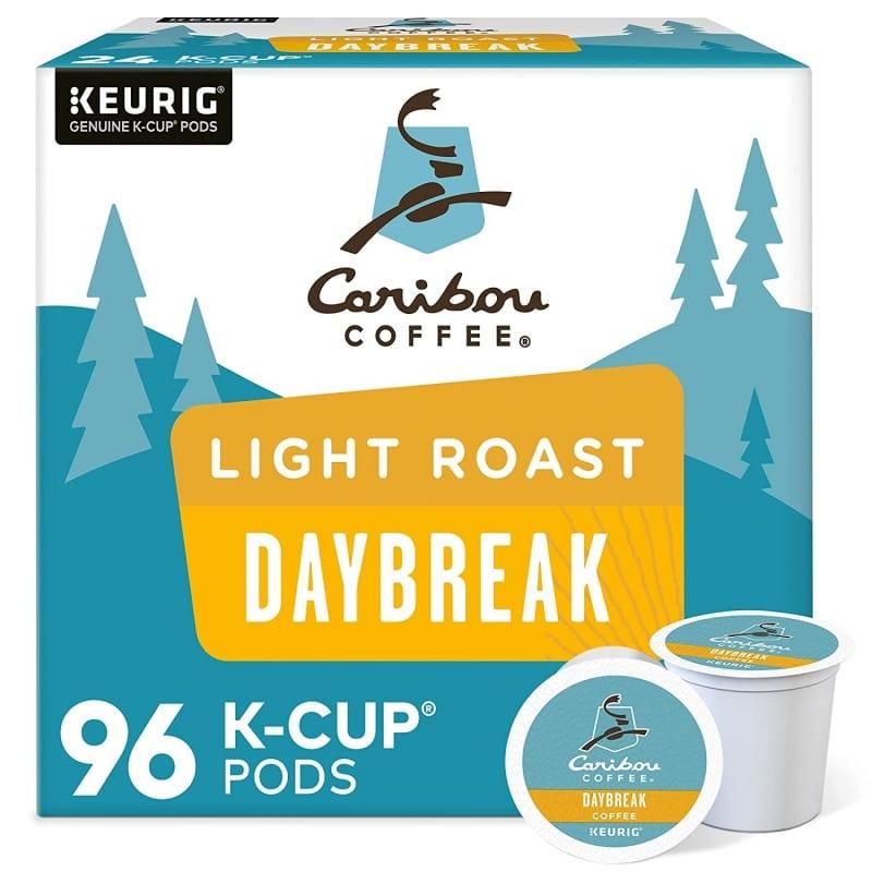 4. Caribou Coffee Daybreak Morning Blend Single-Serve Keurig K-Cup Pods