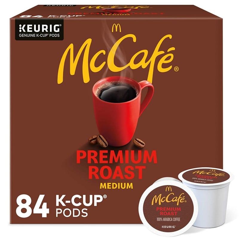 4. McCafe Premium Medium Roast K-Cup Pods