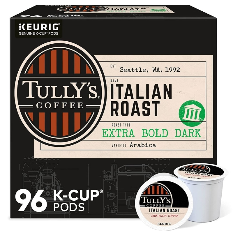 4. Tully's Coffee Single-Serve Keurig K-Cup Pods
