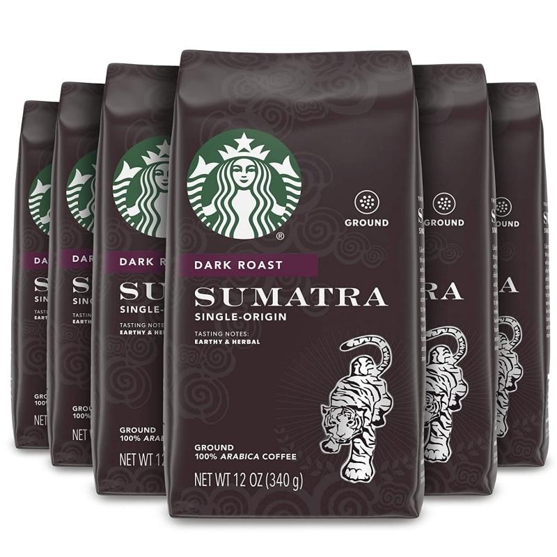 4. Starbucks Dark Roast Ground Coffee-Sumatra