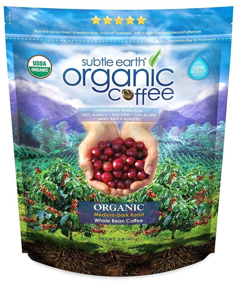 5. 2LB Subtle Earth Organic Coffee