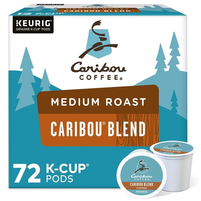 5. Caribou Coffee Caribou Blend Single-Serve Keurig K-Cup Pods