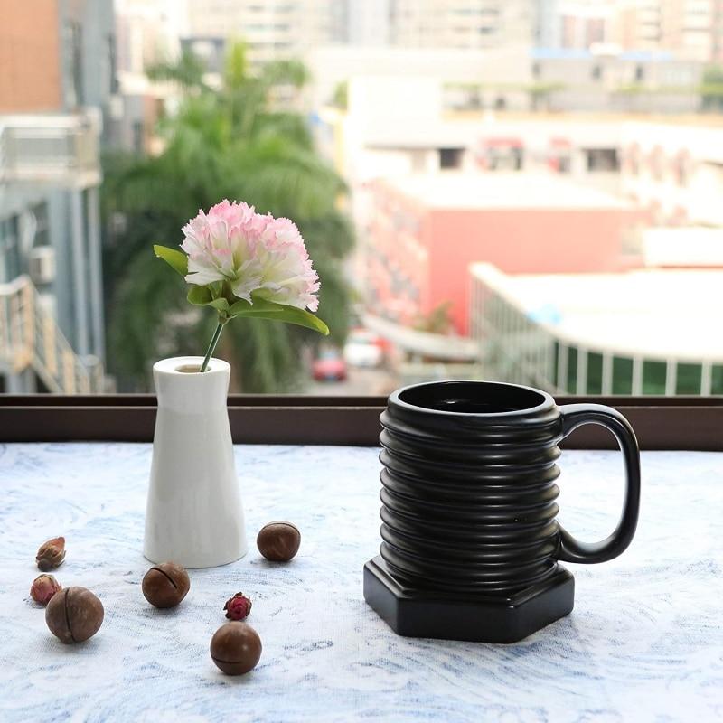 24. EPFamily 3D Ceramic Cool Mug Black Coffee Mugs