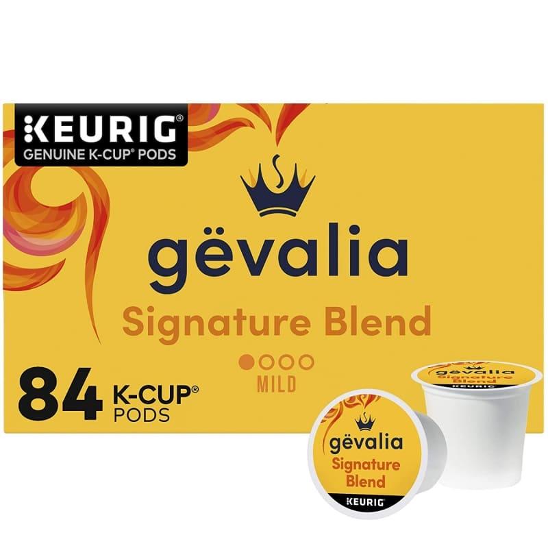 5. Gevalia Signature Blend Mild Light Roast K-Cup Coffee Pods