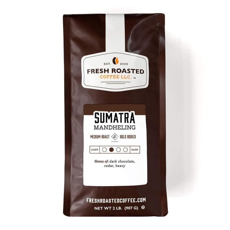 5. Fresh Roasted Coffee, Sumatra Mandheling