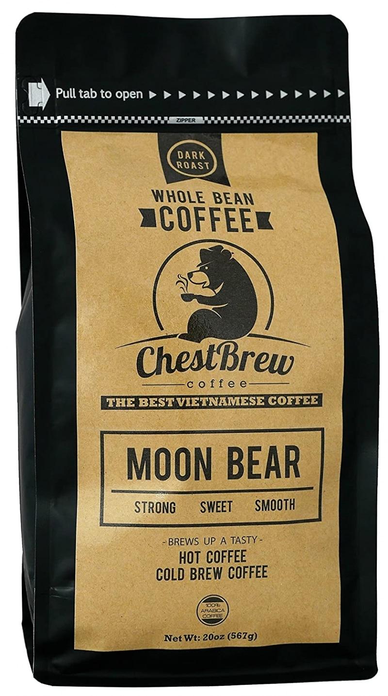 6. Chestbrew Moon Bear Premium Whole Bean Vietnamese Drip Coffee
