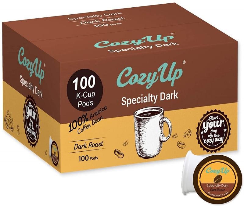 6. CozyUp Dark Roast Blend Coffee Pods