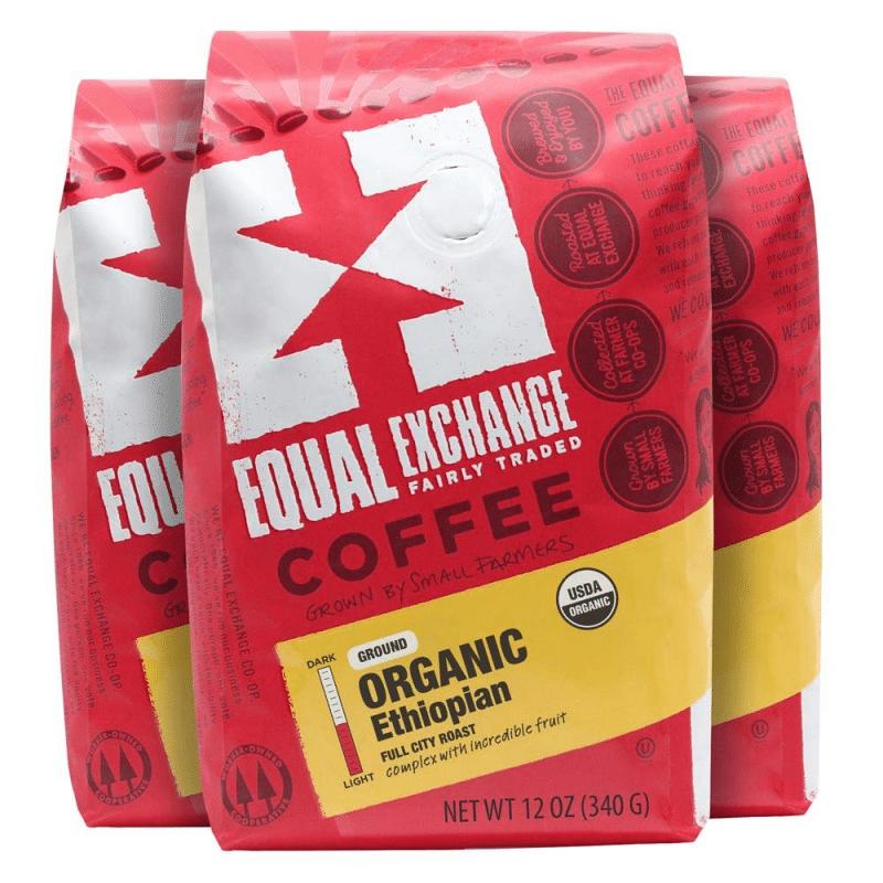 6. Equal Exchange Ethiopian Organic Coffee Ground