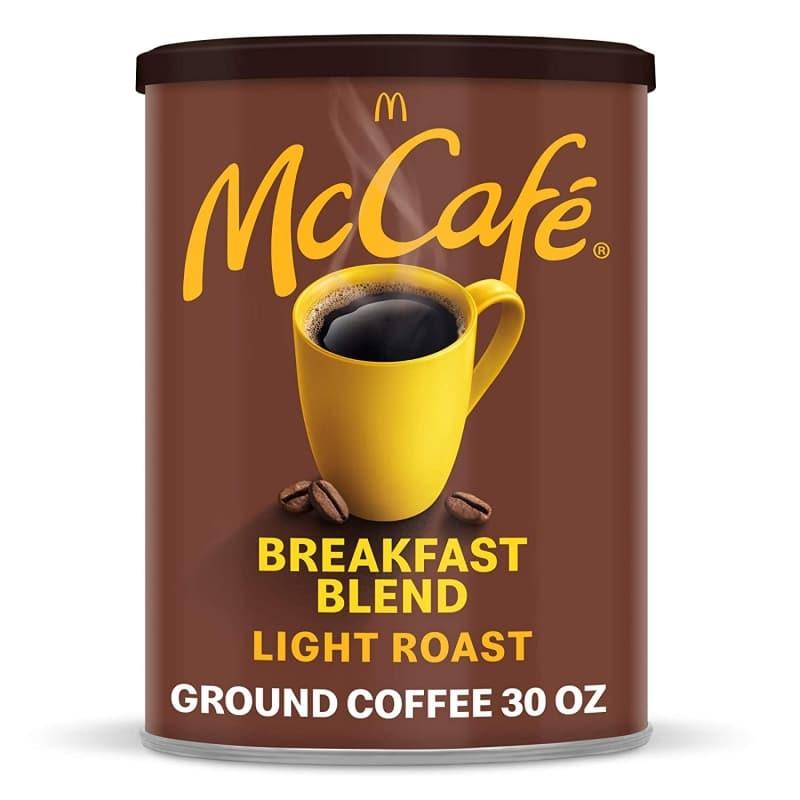 6. McCafé Breakfast Blend Light Roast Ground Coffee