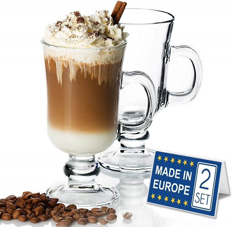 6. Volarium Irish Glass Coffee Mugs