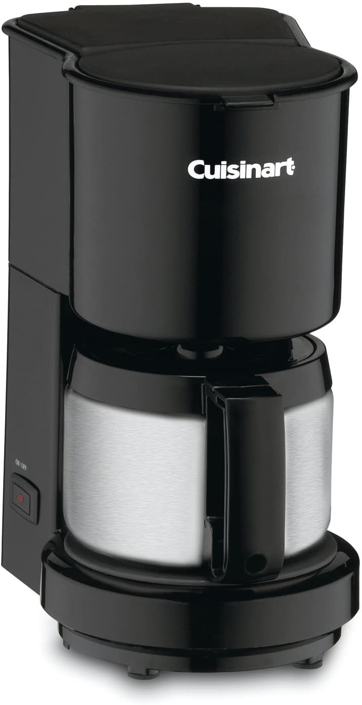 7. Cuisinart DCC-450BK 4-Cup Coffeemaker with Stainless-Steel Carafe