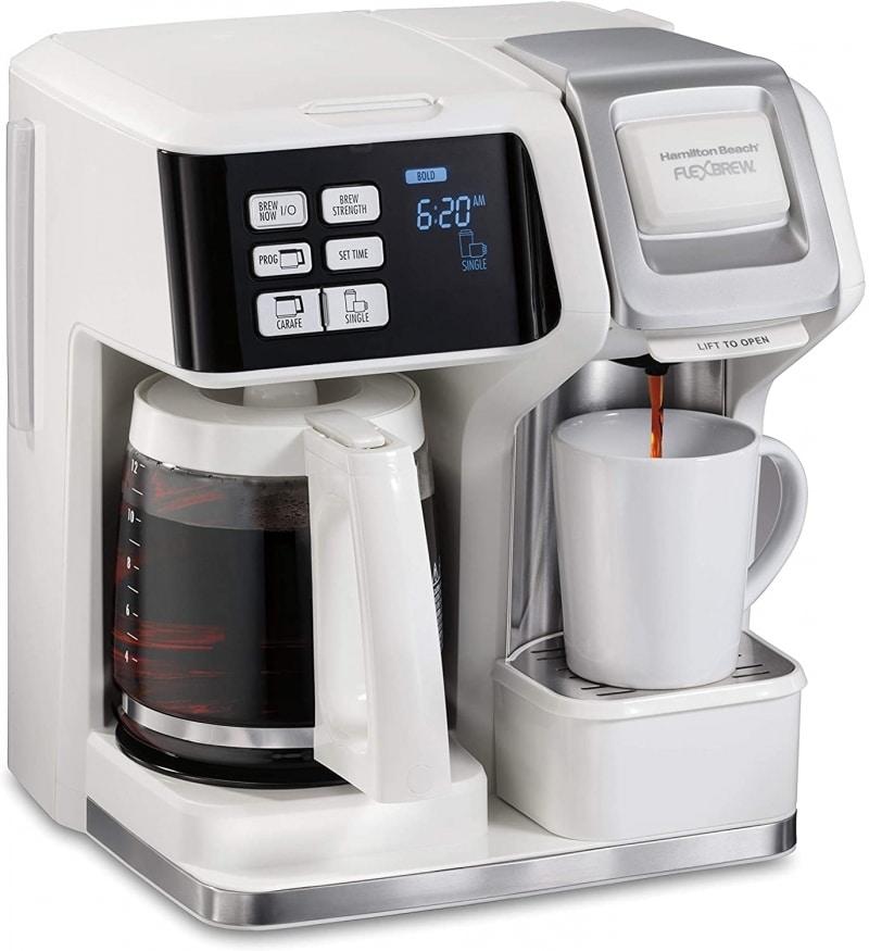 7. Hamilton Beach FlexBrew Trio 2-Way Single Serve Coffee Maker