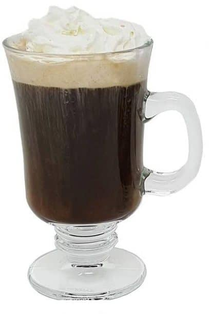 7. LavoHome Irish Coffee Glass Coffee Mugs Footed Regal Shape