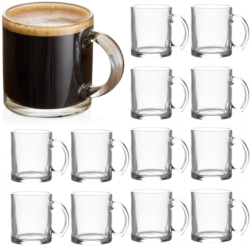 7. QAPPDA Clear Coffee Mugs