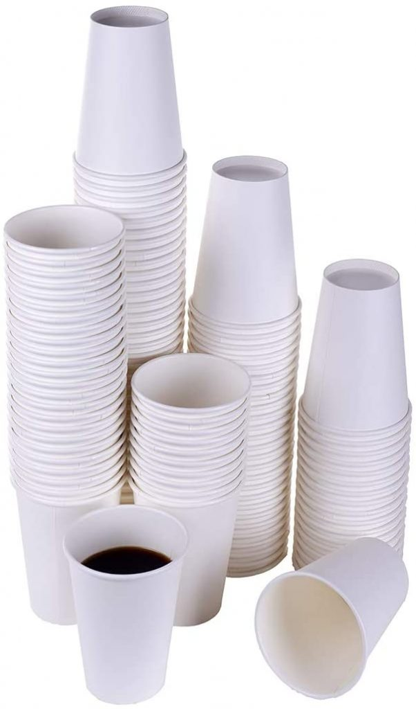 7. TashiBox White Hot Drink 120 Count - 12 Oz Disposable Paper Coffee Cups