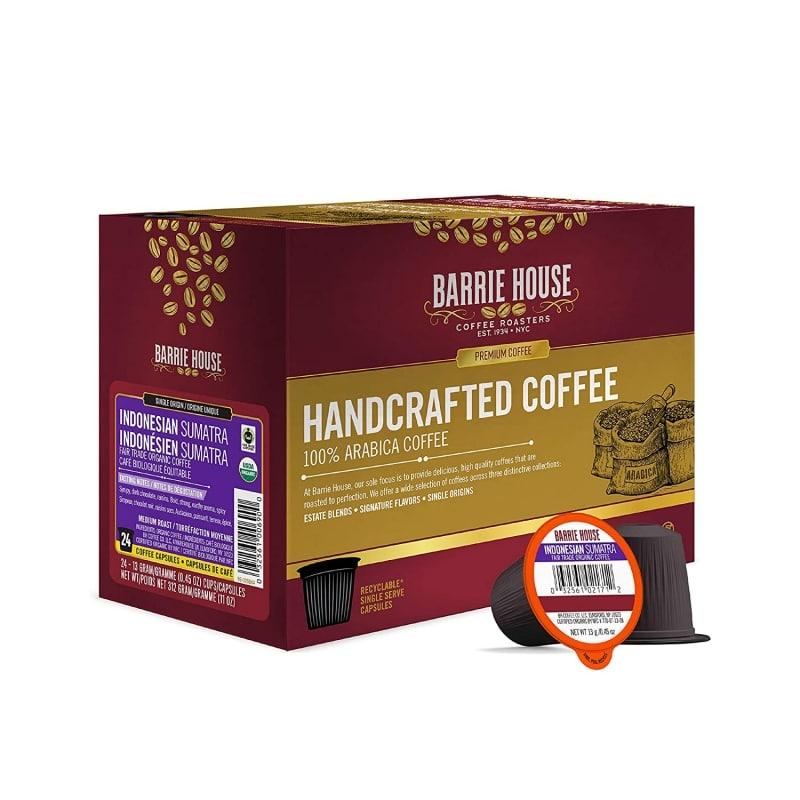 7. Barrie House Indonesian Sumatra Single Serve Coffee Pods