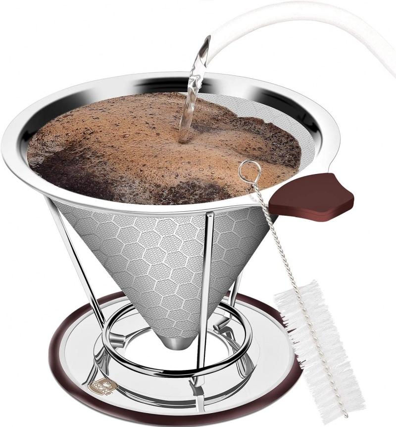 8. Vencino Pour Over Coffee Dripper