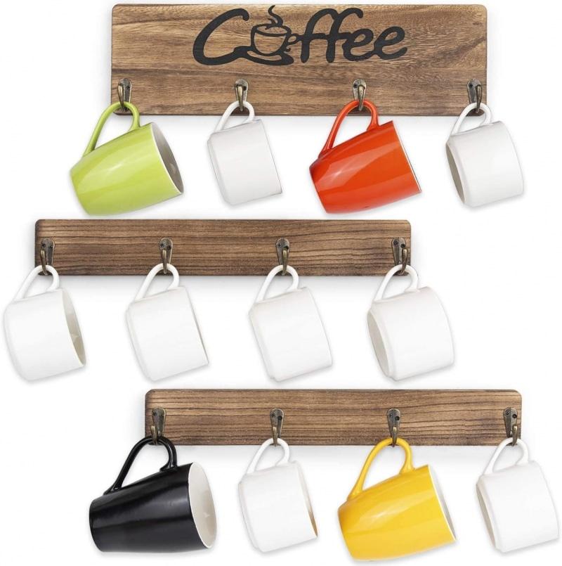 8. Olakee Coffee Mug Rack