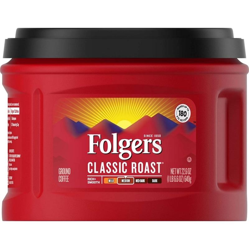 8. Folgers Classic Roast Ground Coffee