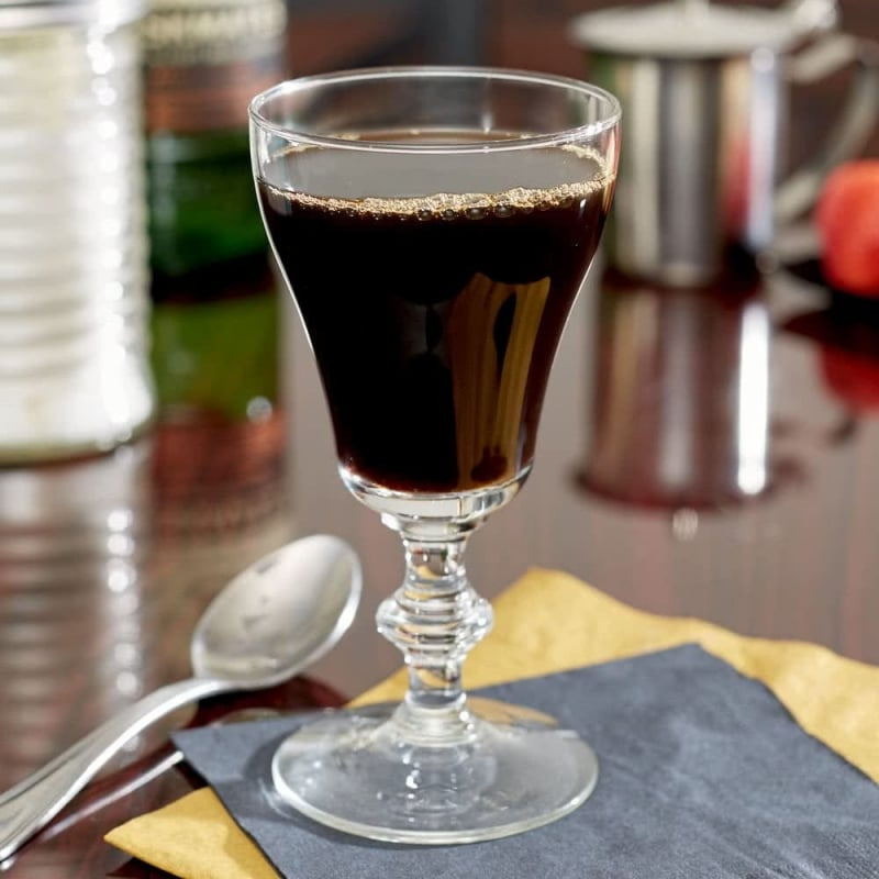 8. Georgian Irish Coffee Glass with Signature Party Picks