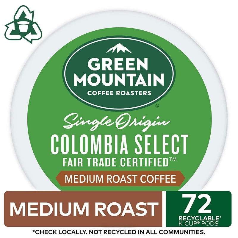 8. Green Mountain Coffee Roasters Colombia K-Cup Pods