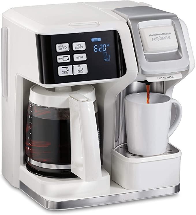 8. Hamilton Beach Flexbrew trio 2-way single serve coffee maker