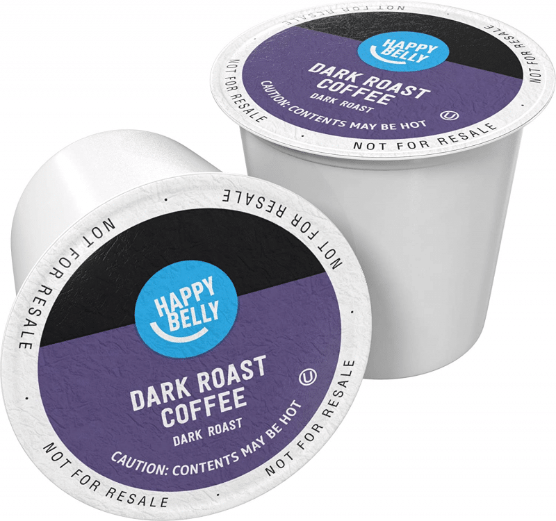 8. Happy Belly Dark Roast Coffee Pods