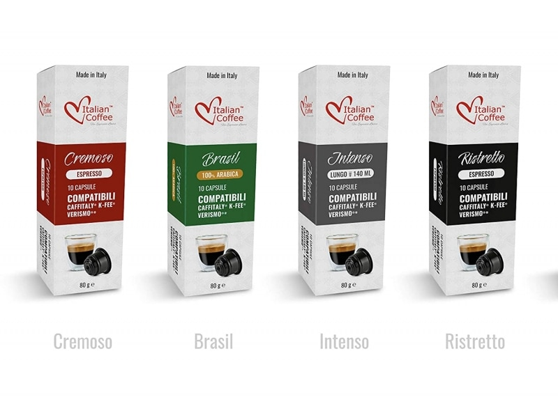 8. Italian Coffee capsules compatible with Starbucks Verismo, CBTL, Caffitaly, K-fee systems