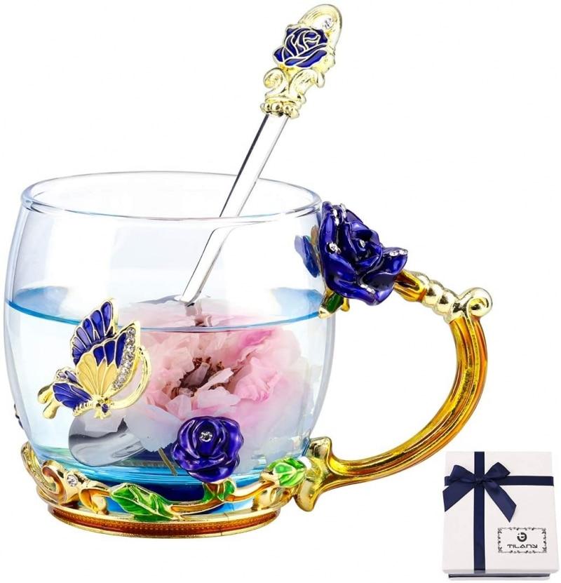 8. TILANY Glass mug
