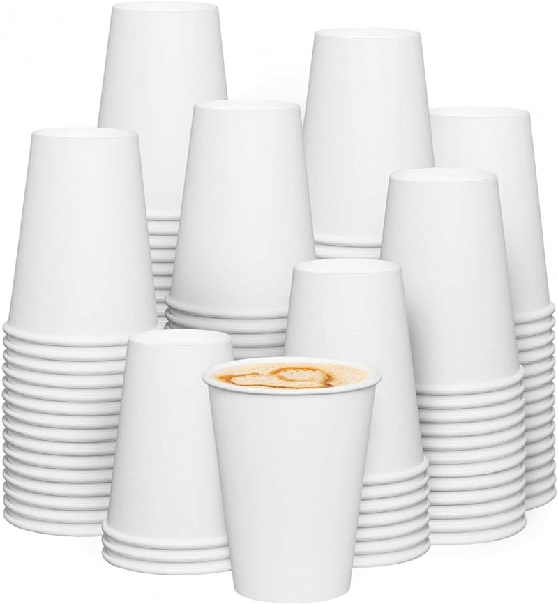 8. White Paper Coffee Cups