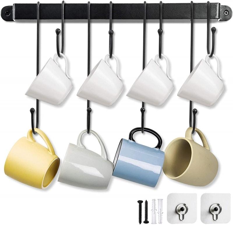 4. Coffee Wall Mug Rack