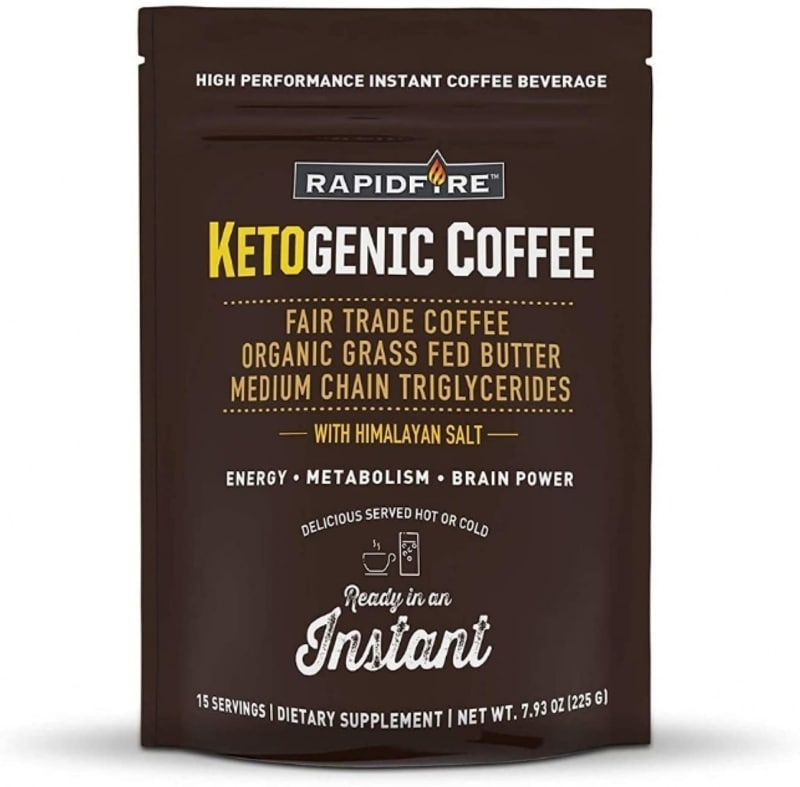 9. Rapid fire Ketogenic Instant Coffee Mix