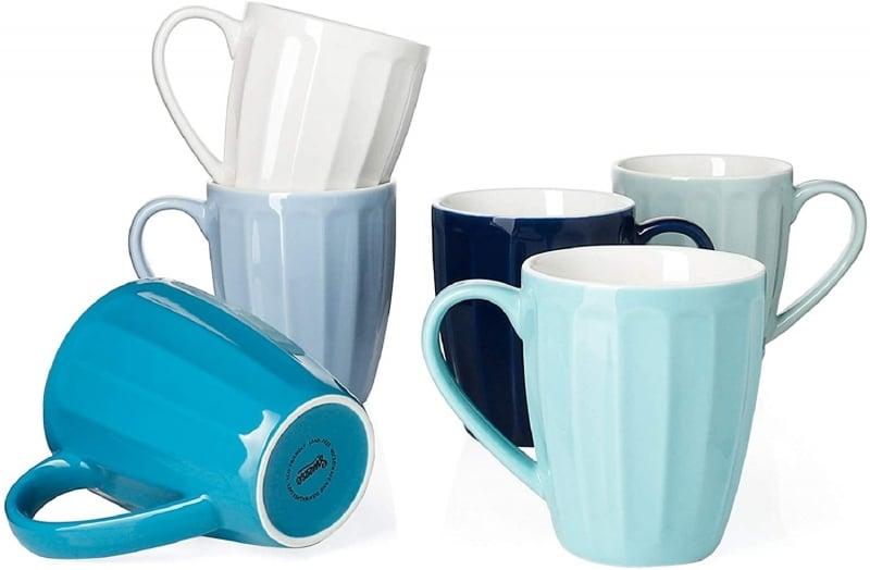 9. Wavy and Big Sweese Coffee Mug Set of 6
