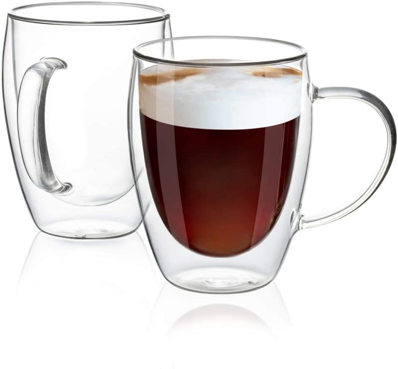 9. MEWAY Double Glass Mugs
