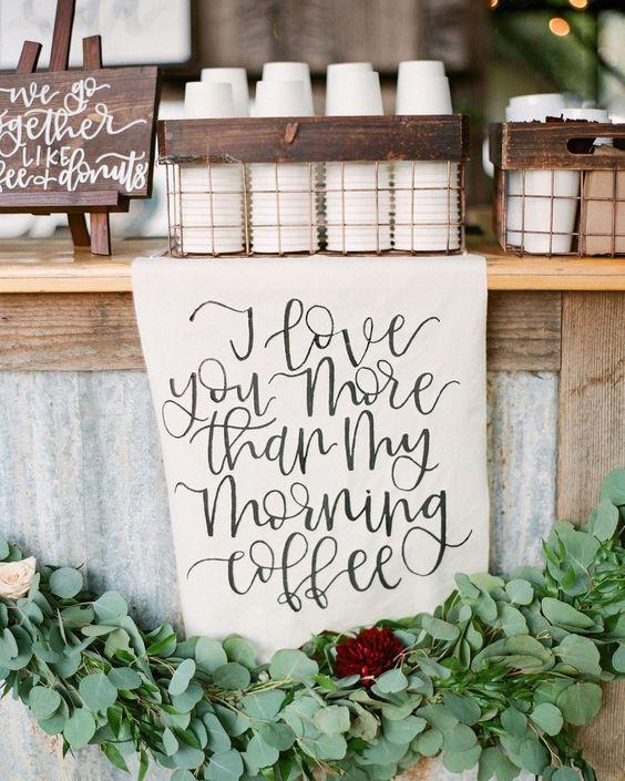 7. Wedding Coffee Bar Love Sign