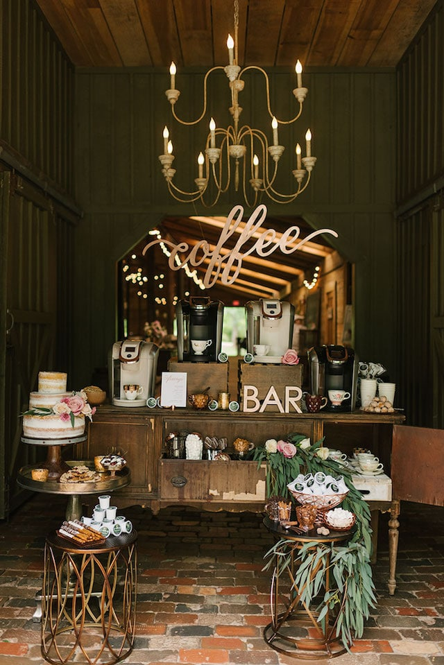 2. Set up a coffee bar - Vintage Coffee Bar