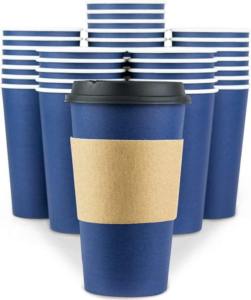 10. Disposable Double Wall Coffee Cups With Lids