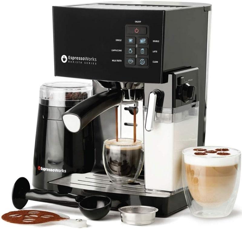 10. Espresso Machine, Latte & Cappuccino Maker