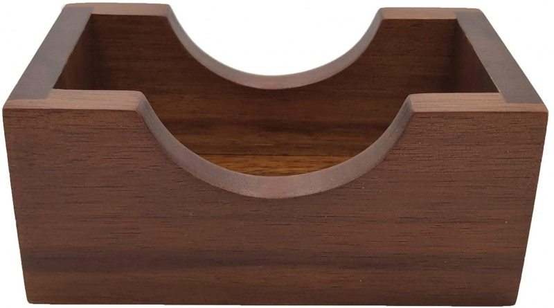 11. Natural Wooden Coasters Holder